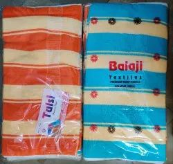 Balaji Stripped Polyester Terry Towel, 450 GSM, Size: 30x60 Inch