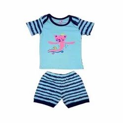 100% Cotton Half sleeve Top Pant set For Baby Boy