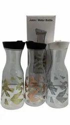 Plain Transparent 1000ml Glass Water Juice Bottle, Flip Top