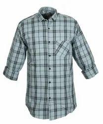 Golden Fiber Collar Neck Men Cotton Casual Checks Shirt, Handwash, Size: M To Xl