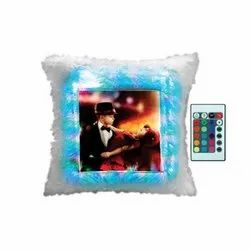 Sublimation LED Square Cushion With Remote