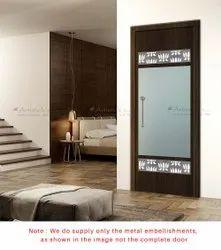 White Metal Pooja Room Door Designs