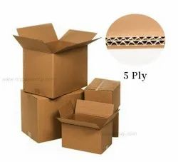 Brown Die-Cut Corrugated Boxes 5 Ply, Weight Holding Capacity (Kg): 11 - 25 Kg, Size(LXWXH)(Inches): Custom Size Avilable