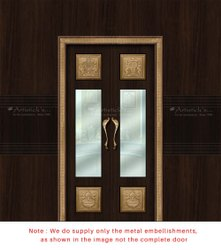 Traditional Pooja Room Double Doors