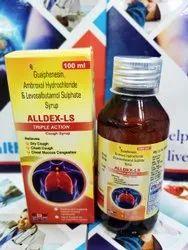 Alldex-LS JUNIOR Guaiphenesin IP 50mg, Ambroxol Hydrochloride 30mg, Levosalbutamol, 60 ml