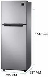 2 Star Silver Samsung Double Door Refrigerator, Model Name/Number: RT28A3022GS, Capacity: 253L