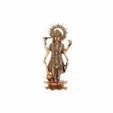 Metal Gold Plated Vishnu Ji Idol For Home Decor & Corporate Gift