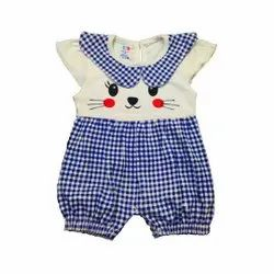 100% Cotton Knitted Half Sleeve Rompers For Baby Girls