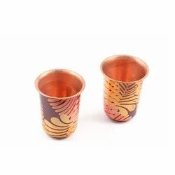 Copper Printed Glass (Set of 2)