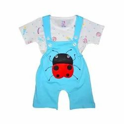 100% Cotton Half Sleeve Baby Dungaree For Unisex