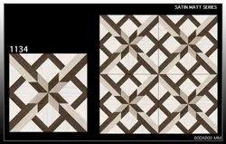 White Glazed Porcelain Floor Tile, Thickness: 9mm, Size: 60 * 60 in cm