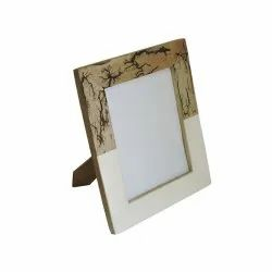 Wooden Brown & Light Yellow Photo Frame Picture Frame, For Decoration, Size: 5 X 7