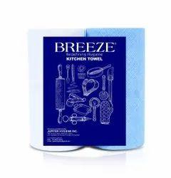 Strips Blue Breeze Kitchen Towel, Wash Type: Washable