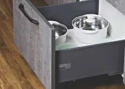 Slimline Grey Regular Tandom Box With Gallery With Load Capacity Upto 45 Kg (White, 500Mm/6 Inch)