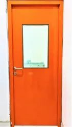 Gi Powder Coated Commercial Steel Door Frame, Single, Thickness: 46 MM