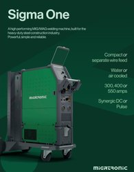 Migatronic Sigma One welding machine