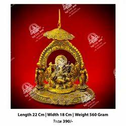Metal Kala Worship Ganesha ji God Statue