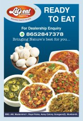 Cloud Kitchen Opportunity in Ready To Eat Products, Packaging Type: Packet