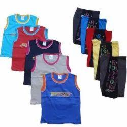 Kids Sleeveless T Shirt Shorts Set