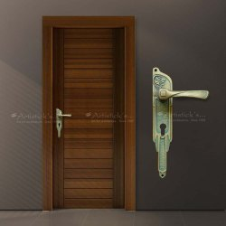 Brass With Patina Door Handles