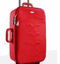 Red Polyester Trolley Suitcase, Number Of Wheel: 4