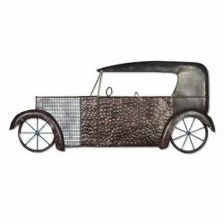 Brown Polished Decorative Classic Car Shaped Wall Decorative Vintage Wall Decor, For Decoration