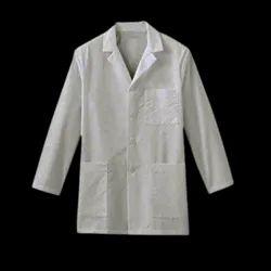 White Full Sleeves Lab Coat, Machine wash