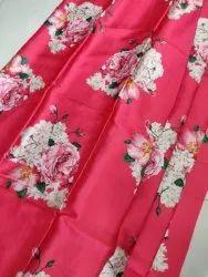 52 Inch 120 GSM Pink Silk Satin Fabric, Handwash
