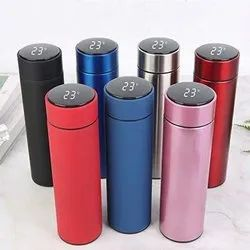 Temperature Display Indicator Insulated Stainless Steel Hot & Cold Flask Bottle 500m
