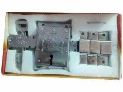 Narain Stainless Steel Silver 10 Turn Godown Lock