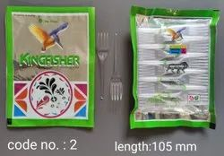 Disposable Plastic Kingfisher Crystal Fork