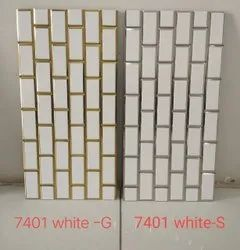 white and gold brick tiles