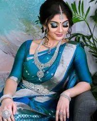 Blue Kanchipuram Silk Sarees