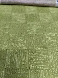 Green Embroidered Linen Fabric, GSM: 150
