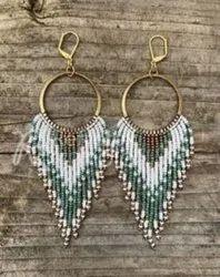 Artificial Beaded Earrings