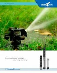 6 3HP AC CI Solar Submersible Pump Set With Controller