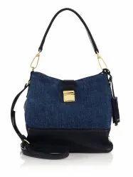 Ladies Denim Handle Handbag