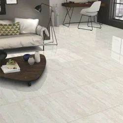 Multicolor Porcelain Floor Tiles, Glossy, Thickness: 8-9 mm