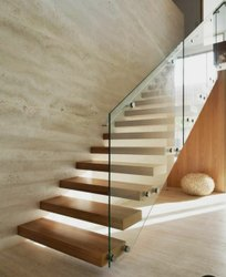 Matt 304 Ss Glass Railing, For Home, Material Grade: Ss304