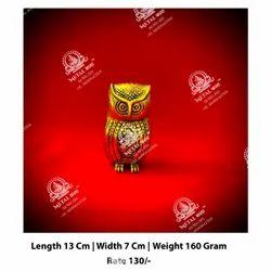 Metal Golden Owl Statue