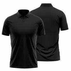 Plain Black Polo T Shirt