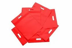 Plain Red Non Woven D Cut Grocery Bag, For Shopping, 8 X 10 Inches