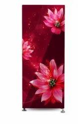 2 Star Burgundy Red Gem Sharon Series Glass Door Refrigerator, Capacity: 180 Litre