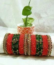 Handmade Silkthread Bridal Bangle Set
