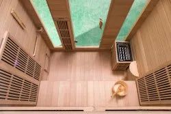 Combination Of Infrared And Stone Heater Sauna