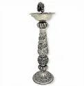 Silver Plated Brass Samai / Diya For Home Pooja & Decoration