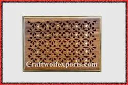 Brown Junglewood Wood Brass Thirty Stars Box, For Home, Size: 18x12.7x6.2 Cm