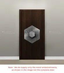 Decorative White Metal Door