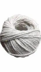 Twisted Plain White Cotton Yarn Ball