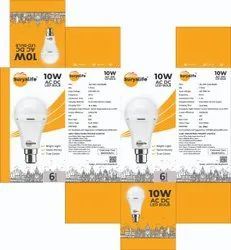 SURYALIFE Aluminum AC DC LED BULB 10W, Battery Type: Lithium Ion, Capacity: 2600